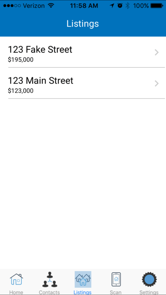 Real Estate CRM Mobile Listings