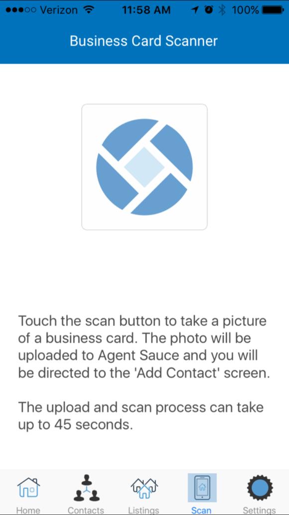 Real Estate CRM Mobile App Business Card Scanner